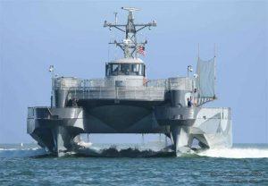 Hydraulic linear position sensor for rudder control on sea slice