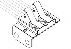 dual action waterproof switch mounting bracket